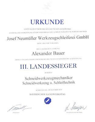 Alexander Bauer nun auch Landessieger