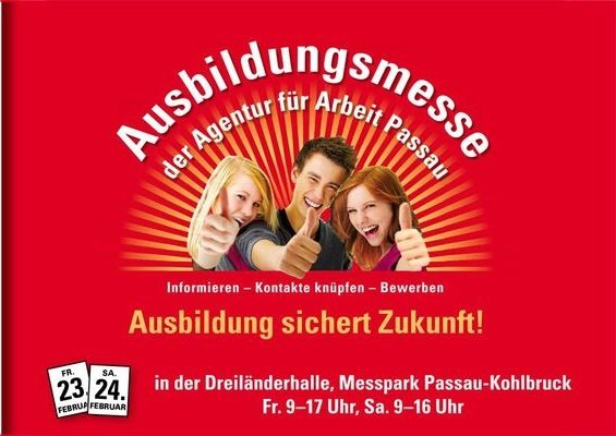 Ausbildungsmesse 2018 in Passau, schaut vorbei bei uns!